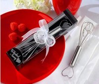 Wholesale 100pcs Stainless Steel Heart Shape Hand Whisk Egg Beater Party supplies wedding gifts