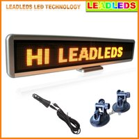 amber high brightness - Car Sign Programmable Message Sign Moving Scrolling LED Display Board Single Amber Color High Brightness
