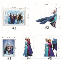 Wholesale Frozen window wall stickers home decor removeable d wall stickers home decor the Art Of Frozen Movie Wall Stickers