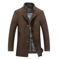 alpaca wool coats - Fall Mens short trench coat Alpaca coat wool coat men s fall winter wear new windbreaker jacket long trench coats for men