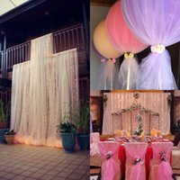 Wholesale DIY Custom madeTulle Wedding Decorations Chair Covers Sashes Backdrops Wedding Pew Decorations Arch Bridal Favors cm Width mters Long