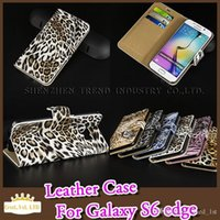 Cheap Samsung Magnetic Leopard Print PU Leather With Card Holder For iPhone 6 6S Plus Samsung Note3 4 S3 S4 S5 S6 edge