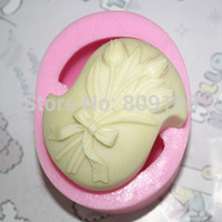 Wholesale retail C269 flower clay pottery mould silicone cake mold soap Mold FM