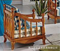 sofa sofá da tela mediterrânea país da América sofá da sala de madeira de madeira tecido combinação sofá sofá-americana