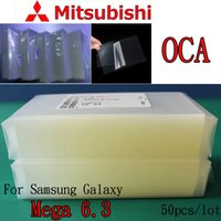 Wholesale OCA Optical Clear Adhesive For Samsung Galaxy Mega Double Side Sticker Glue for Mitsubishi um thick