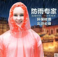 Wholesale High quality Raincoat Fashion Hot Disposable PE Raincoats Poncho Rainwear Travel Rain Coat Rain Wear Travel Rain Coat Tour