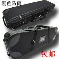 Wholesale High grade violin box waterproof high grade materials with humidity table locking shoulder strap