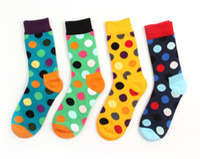 athletic socks lot - 24pcs pair HOT cotton Korea happy socks multiclour polka dot Skateboarding brand lover preppy style Sport Socks