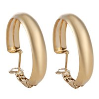 basketball wives earrings - Earrings For Women Fashion basketball wives Hoop Earrings Jewelry Gift Trendy Gold Plated Round Hoop Earrings for women