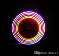 Wholesale 2 x Bike Bicycle Wheel Tire Valve Cap Spoke Neon LED Lights Lamp changes