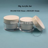 acrylic glass jar cosmetic - 30g D53 H41mm Acrylic Cream Jar Double Wall Plastic Jar Facial Mask Makeup Jar Cosmetic Container Packaging