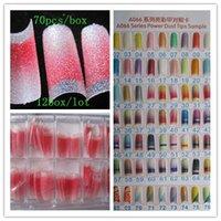 Wholesale Wholesales BOX Fashion Glitter False Nail Tips fake Nail Pre Design Acrylic Nail Art Manicure