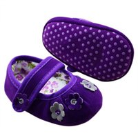 baby crib s - Purple Red Color Girls Baby Flower Crib Shoe Anti Slip Casual Prewalker First Walker Baby Shoes S M L Size