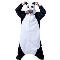 adult matching pajamas - Adults Flannel Pajamas Kunfu Panda pijamas Couple Matching Kigurumi Onesies Costumes Lovely Home wear Cartoon Sleepwear FSY098