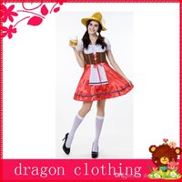 beer party themes - Stockholm Oktoberfest Beer Girl Theme Costume Halloween Carnival Moments Party Cosplay Suits Stage Performance Costume w Red