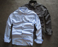 oxford shirts - 2015 men oxford cotton long sleeved shirt Slim thick section deals