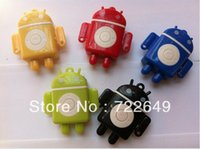 2 gb micro sd card - Hot Sale Mini Android Robot mp3 Music Player With Micro SD Card Slot Support GB TF Card best gift