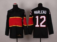 Cheap #12 Patrick Marleau Black Jersey 2014 Sochi Olympic National Team Hockey Jerseys Winter Hockey Wears Mens Uniforms Embroidered Name Number