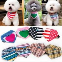 bandana necklace - New Dog Bow Tie Collars Dog Cat Bandana Neck Necklace Scarf Cute Collar