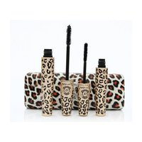 alpha mascara - DHL free Leopard Print Love Alpha Black Eye Mascara Long Eyelash Silicone Brush curving lengthening mascara Waterproof Makeup waitingyou