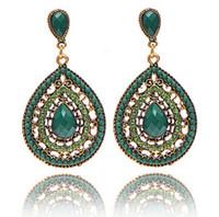Wholesale 2015 New Women Bohemian Beads Drop Earring Fashion Vintage Dangle Chandelier Crystal Earrings colors