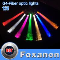 Wholesale 4Pcs led G4 Fiber Optical Light v G4 LED Fiber Optic Lamp Decorative Lighting Colors Optional no Stroboscopic Super Bright