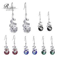 zirconia stud earrings - 2015 Austrian Crystal Stud Earrings For Women Gold And Silver Bridal Wedding Earring Bijoux Femme Earings Fashion Jewelry