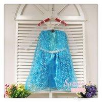 Cheap girls sequin dress frozen princess party dress frozen elsa snow queen costume dress chritmas clothes