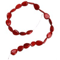 Wholesale New Arrival strings Red Water Shape Stripe Beads Shell Beads mm