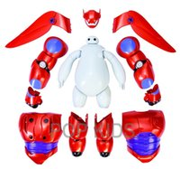 Wholesale New cm Transform Assemble Big Hero Action Figure Toy Fat Balloon Man Doll Baymax transformations Olaf Christmas toys