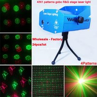 Wholesale Red Green Laser patterns football gobo projector Party DJ Lighting lights Disco bar Dance stage Light show