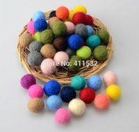 garland christmas - 100pcs mm wool Felt Ball Garland Party Decor Wedding Decorations Colourful Kids Room Decor Fun Home Decor