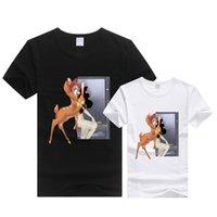 bambi cartoon - 2016 Famous Brand d t shirt men women couple Bambi Cartoon Deer t shirt clothes men casual t shirt tee shirts tops mujer