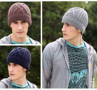 Wholesale Fashion Men Women Knitted Streetwear Hat Jacquard Beanie Sports Hat Winter Autumn Thick Warm Ski Cap Sportswear Five Colors