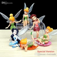 Wholesale pieces tinkerbell fairy pvc figure tinker bell fairies action figure anime cake decoration topper