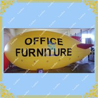 airship blimp - 26ft m Long Yellow Inflatable Airship Blimp Zeppelin with Red wings for Advertisement DHL shipping