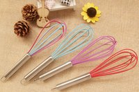 Wholesale 500pcs quot SILICONE COATED EGG WHISK EGGBEATER STAINLESS STEEL HANDLE KITCHEN GADGET
