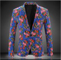 Wholesale Plus Size XL Color Printing Men Casual Blazers New Autumn Fashion Business jacket Hot Sale Men Slim Fit Suits Men s coat