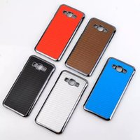 a8000 - For Samsung A8 Hot Carbon Fiber with Electroplate Metal Hard PC Back Case for Galaxy A8 A8000 quot