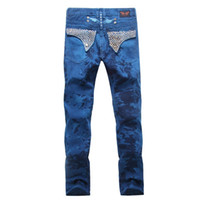 Wholesale 2016 new arrival hot mens designer robin jeans for men famous brand robins jeans denim with wings american flag jeans plus size
