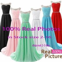 best bridesmaids dresses - Best Selling In Stock Prom Dresses Sheer Neck Beads Backless A Line Long Cheap Mint Red Pink White Pageant Party Bridesmaid Gowns SD184