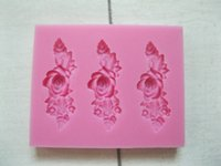 big candle molds - Three Big beautiful Rose flowers shape fondant D molds silicone mold soap candle moulds sugar craft tools chocolate molds