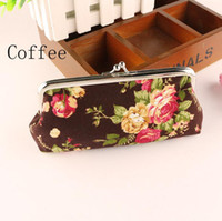 antique coin purse - Printing Cartoon D Rose wallets women clutch wallet fashion female purse canvas lady purse Antique National wind change purse Free DHL