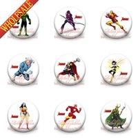 Wholesale Good news Avengers Spiderman Batman Ironman Kids badge cm set Cartoon button pin badge badge button gift kids collection