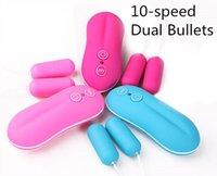 10 velocidades vibradores juguetes sexuales para adultos para mujeres Balas de doble vibración Sexo anal vaginal Huevos vibradores productos sexuales