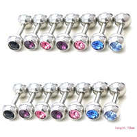 Wholesale Newly Fashion L Nipple Rings Stainless Steel Bar Ball Body Piercing Jewelry