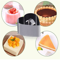 heart shape pan - Pastry Round Square Heart Forms For Cheese Pan Mousses Cake Mould Sectional Shape Baking Dish Dessert Ring Bakeware Mold
