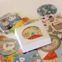 Wholesale 40 set DIY scrapbooking wedding tools Creative Adhesive paper stickers kawaii stationery papelaria School supplies