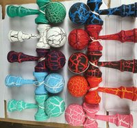 Wholesale 200pcs cm Crack Paint Kendama Ball toy Skillful Jling Game Ball Japanese Traditional Toy Balls Educational Toys DHL