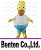 animated props - High Quality Homer Simpsons Mascot Costume Fancy Dress Halloween Party Prop Animated